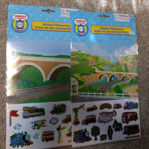 2 NEW Pkgs THOMAS & FRIENDS Sticker Playscene 2007